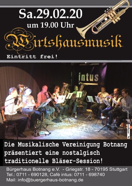 WIRTSHAUSMUSI  mit der Musikalischen Vereinigung Botnang e.V.